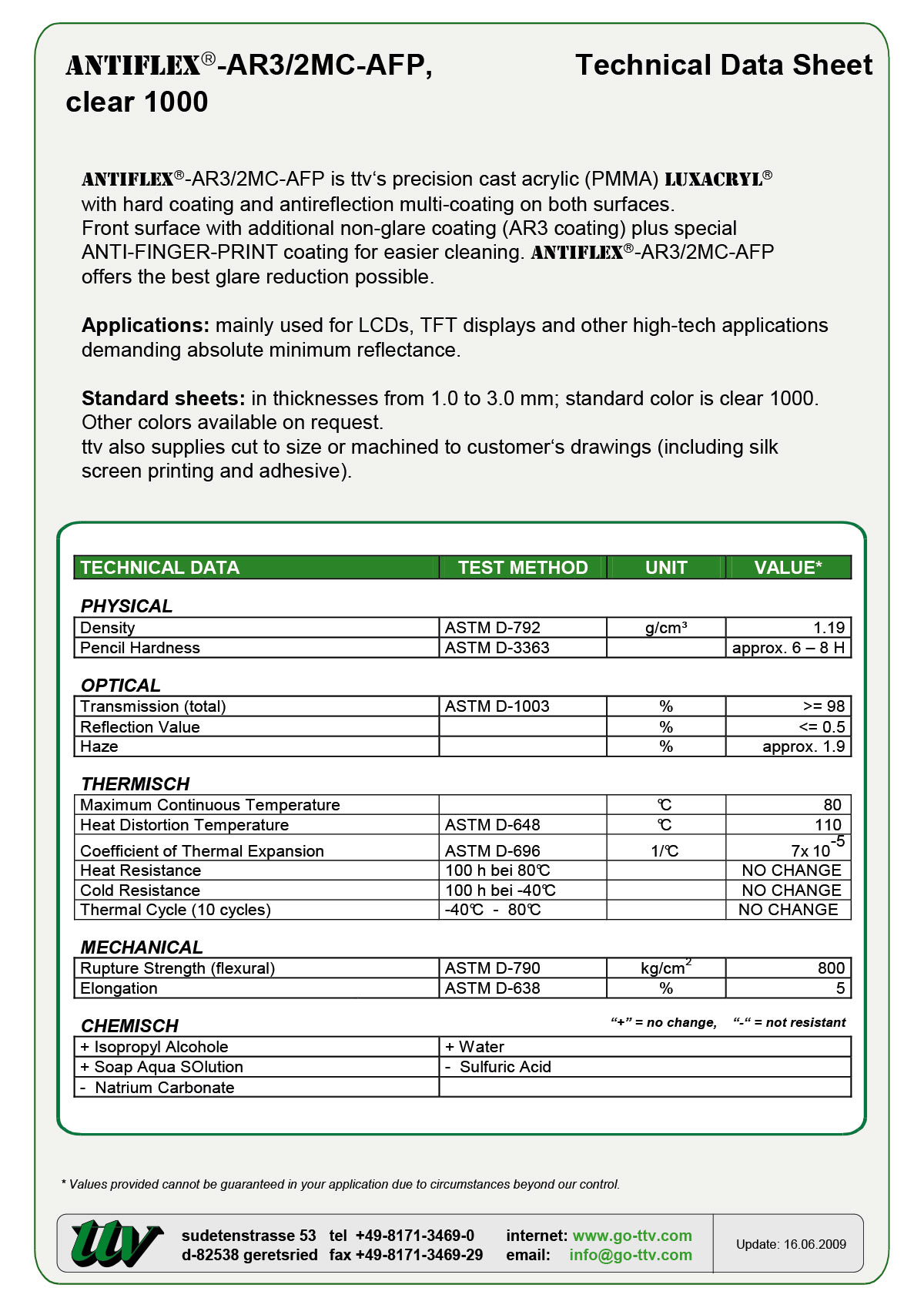 ANTIFLEX-AR3/2MC-AFP Data sheet