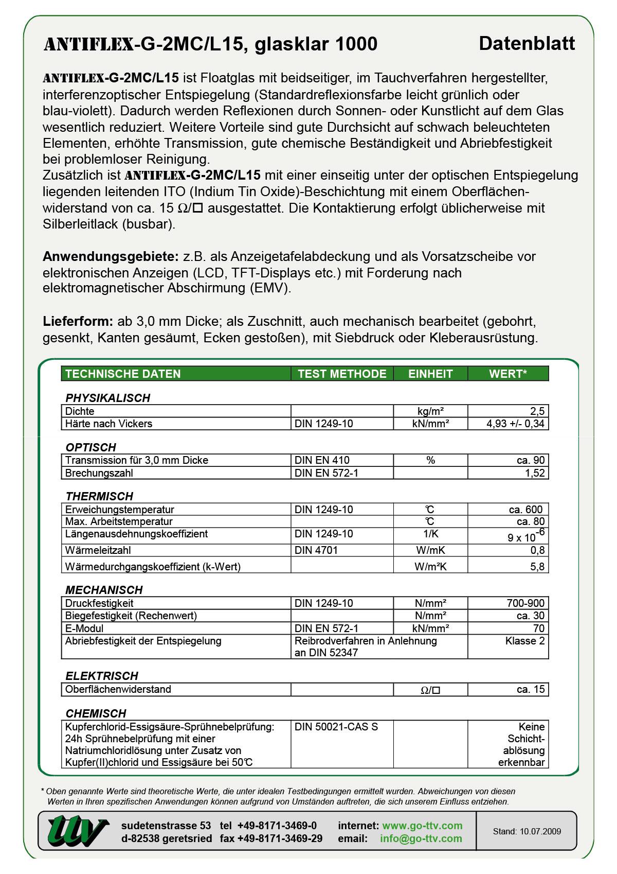 ANTIFLEX-G-2MC/L15 Datenblatt