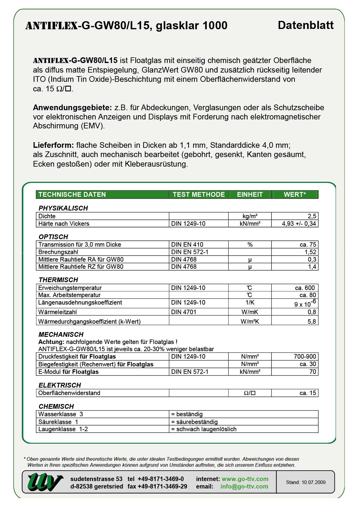 ANTIFLEX-G-GW80/L15 Datenblatt