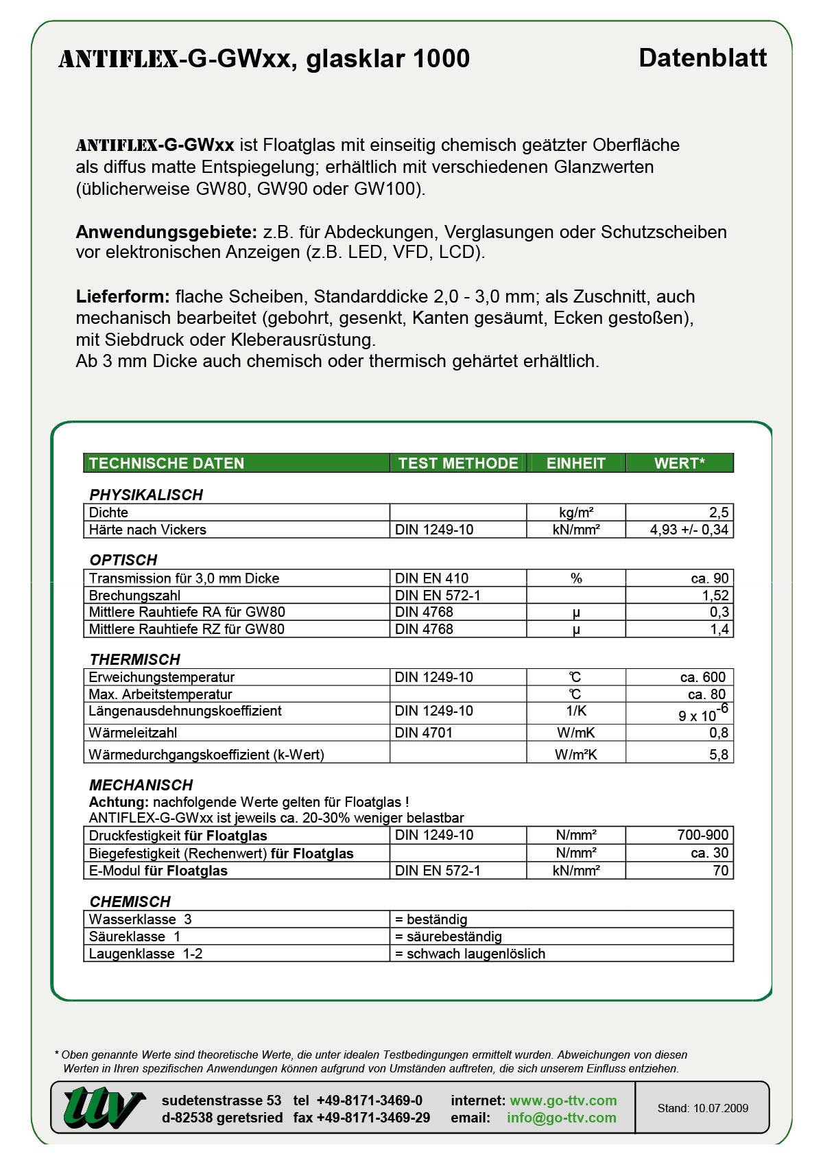 ANTIFLEX-G-GWxx Datenblatt