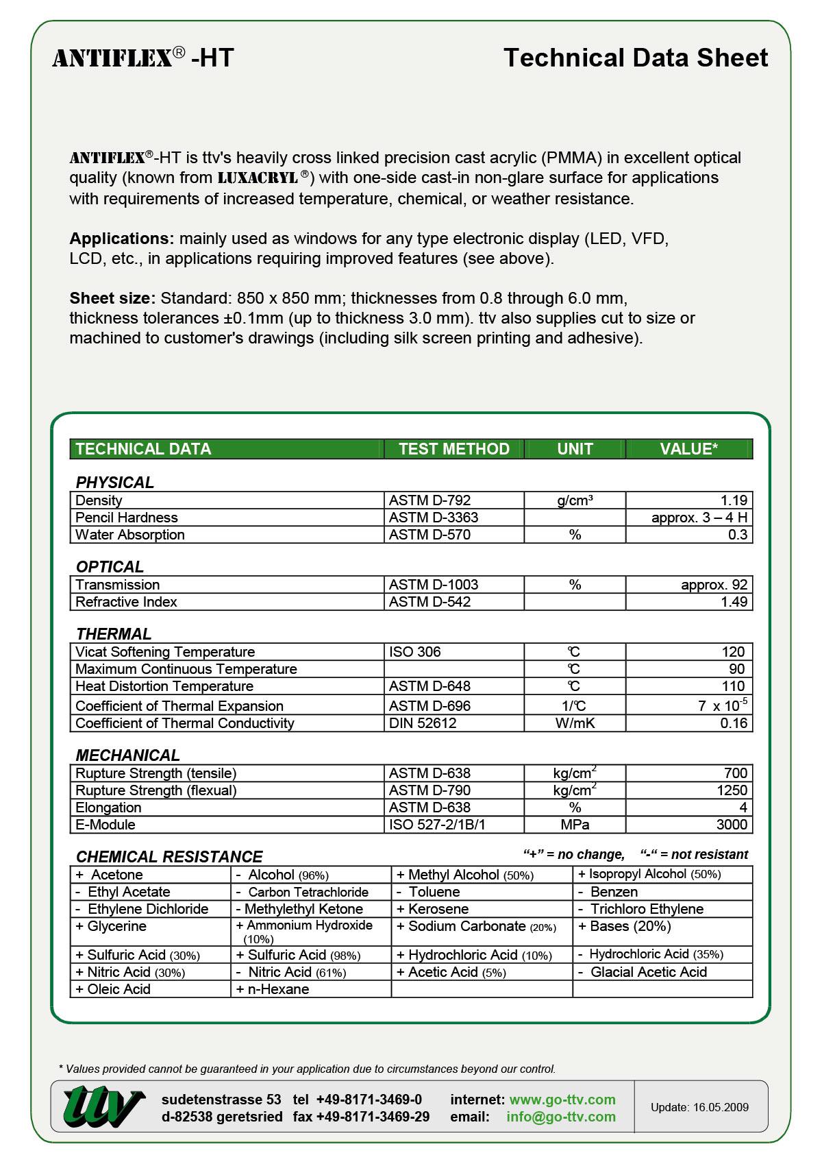 ANTIFLEX-HT Data sheet