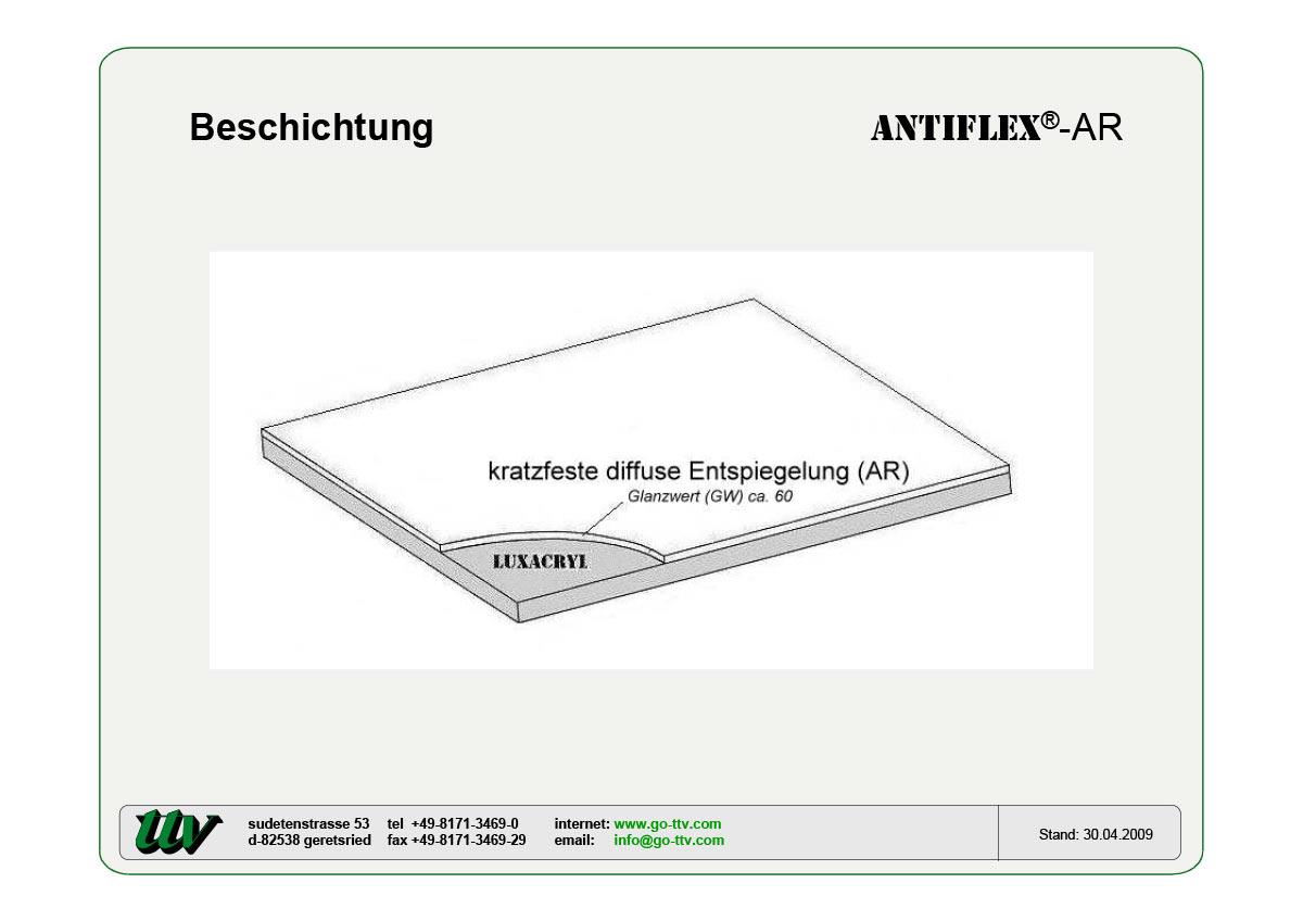 Antiflex-AR Beschichtung