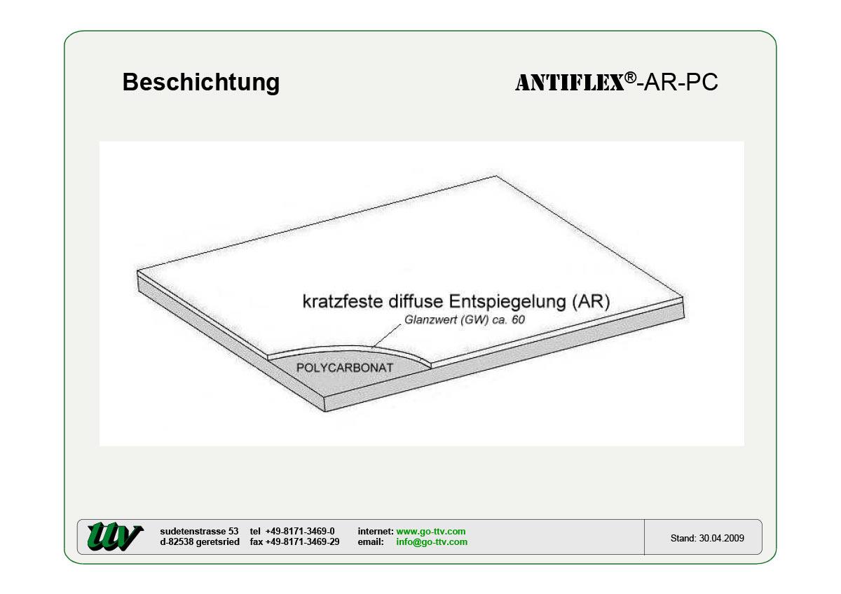 Antiflex-AR-PC Beschichtung