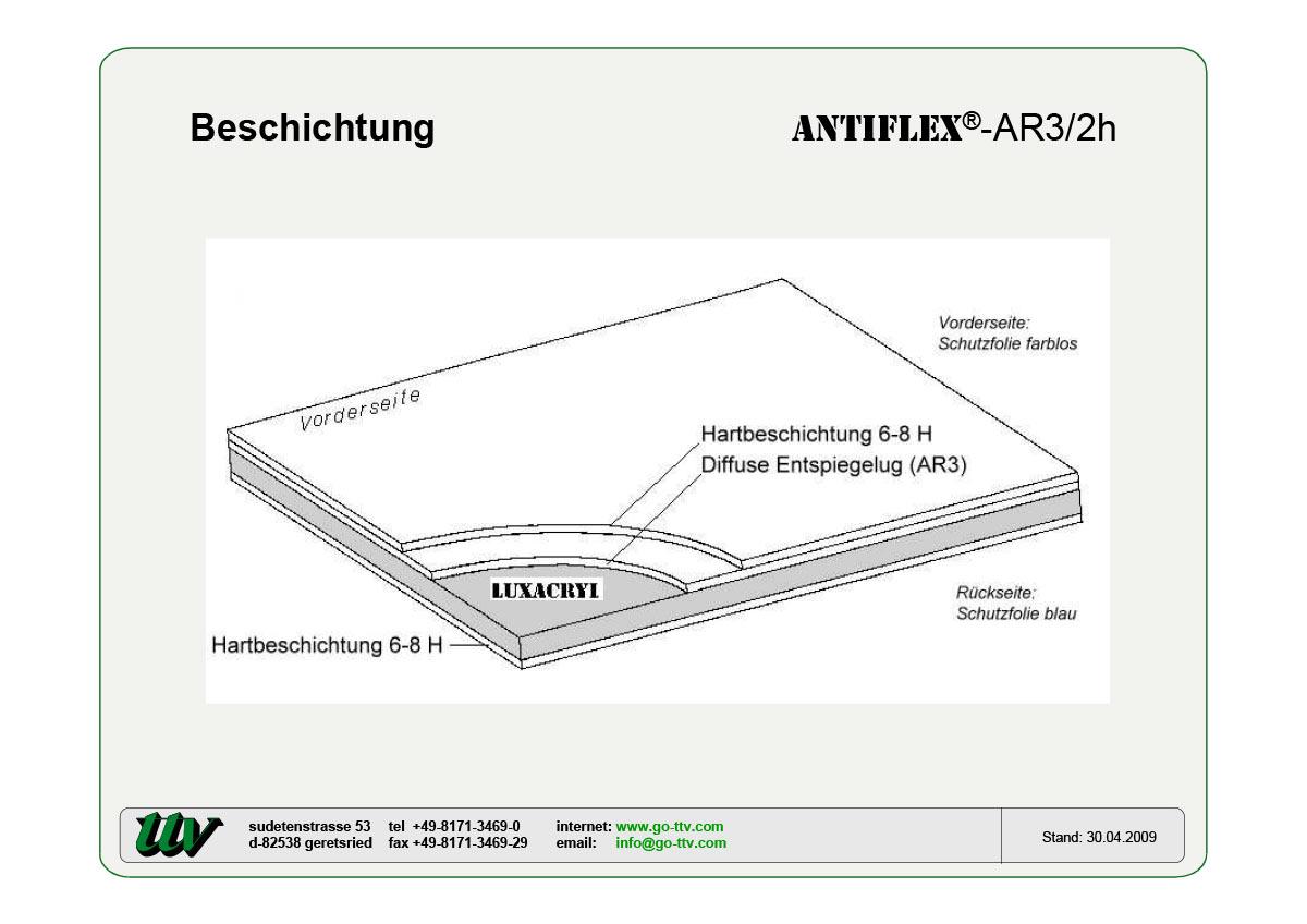 Antiflex-AR3/2h Beschichtung