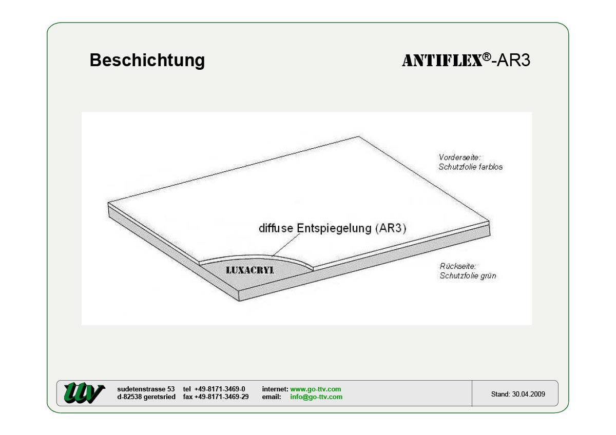 Antiflex-AR3 Beschichtung