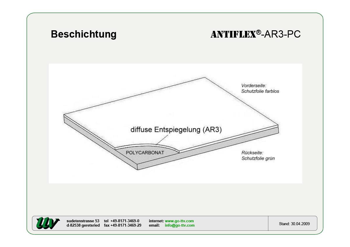 Antiflex-AR3-PC Beschichtung