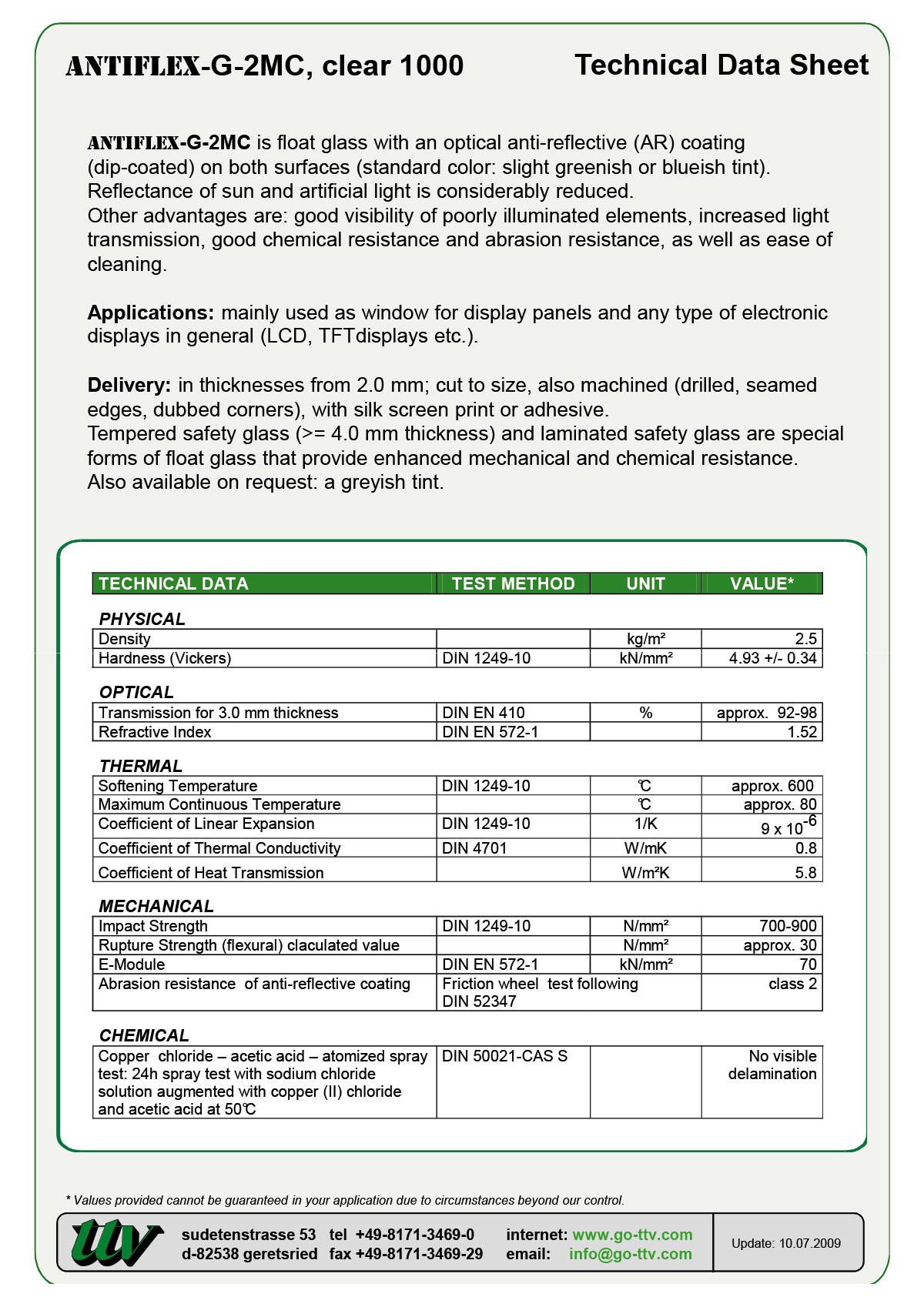 Antiflex-G-2MC Data sheet