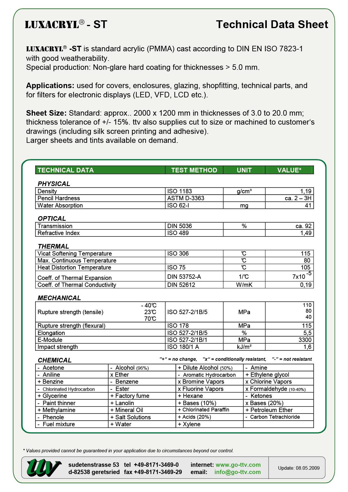 Luxacryl-ST Data sheet